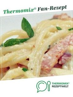 Carbonara sauce from TanteKäthe. A Thermomix ® recipe from the main course with meat category at www.de, the Thermomix ® Community. Carbonara sauce Martina Baessler martinabaessler Thermomix Rezepte Carbonara sauce from TanteKäthe. Easy Chicken Recipes, Easy Healthy Recipes, Vegetarian Recipes, Easy Meals, Spaghetti Recipes, Pasta Recipes, Soup Recipes, Tortellini, Slow Cooker Recipes