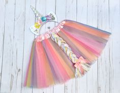 Unicorn costume - girls Halloween costume - pastel uicorn tutu - tutu costume - uicorn headband - pastel unicorn costume - yellow pink blue by DivazByDesign on Etsy https://www.etsy.com/listing/557367945/unicorn-costume-girls-halloween-costume
