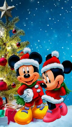 74 Mickey Christmas Wallpapers on WallpaperPlay Arte Do Mickey Mouse, Mickey Mouse Christmas, Christmas Cartoons, Mickey Mouse And Friends, Disney Mickey Mouse, Merry Christmas, Christmas Time, Mickey Mouse Wallpaper, Cute Disney Wallpaper
