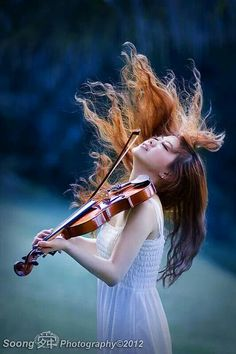 "The Violinist | ""A painter paints pictures on canvas. But musicians paint their pictures on silence."" ~ Leopold Stokowski"