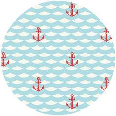 anchor                                    Jay-Cyn Designs for Birch Fabrics Organic, Set Sail, Red Anchor