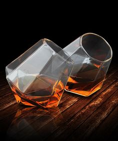 Look what I found on #zulily! Diamond Glass - Set of Two #zulilyfinds