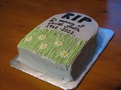 50th Birthday Tombstone Cake