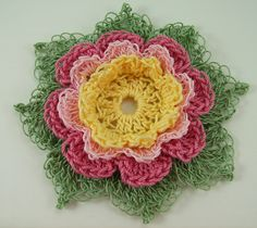 crochet flowers   ... decide whether i like buttons on crochet flowers or not any opinions