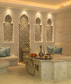 Upscale Moroccan bathroom.  www.mycraftwork.com.