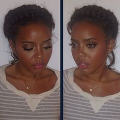 Natural hair - Angela Simmons wears the braid-around