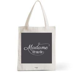 Tote Bag Rock my Citron,  Madame Vit Sa Vie, Cadeaux Fêtes, Anniversaires, Naissances