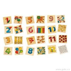 Learn numbers using this fun game memory game. Turn the pieces face down for a memory game or just match the coordinating number with the