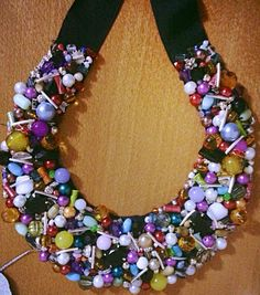 """Candy "" statement necklace"