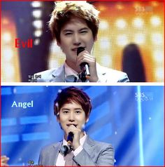 Kyuhyun - I feel like that's a pretty accurate description of him lol. Evil angel :-)