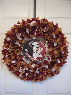 Florida State Seminoles Fabric Wreath