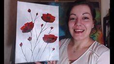 Coquelicots Débutants - Peinture Acrylique Facile - YouTube