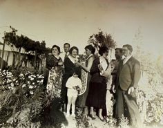 French 1930's Photo - Gathered in the Garden by ChicEtChoc on Etsy