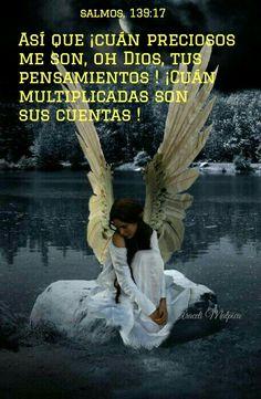 Salmos, 139:17 - Así que ¡cuán preciosos me son, oh Dios, tus pensamientos! ¡Cuán multiplicadas son sus cuentas!