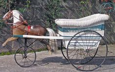 A Fantastic Victorian Push Cart with Horse