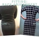 Fitting a swayback. It's quite simple to get rid of the folds that are on the back of your dresses if you have a swayback. I'll show you how, step-by-step on the blog at mariadenmark.com #mariadenmark #mariadenmarksewing #sewing #fitting #sew #nähen #isew #dressmaking #patternmaking