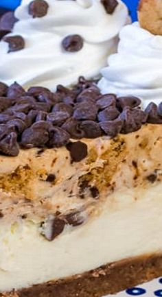 Chocolate Chip Cookie Mousse Cheesecake