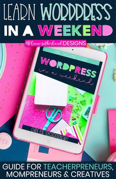 The WordPress in a Weekend guide is part of the amazing WordPress eBook for Beginners and will help you set up your WordPress website in no time! Google Analytics, Custom Fonts, Planner Pages, Search Engine Optimization, Seo, How To Start A Blog, Blogging, Wordpress, Branding