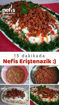 Turkish Recipes, Ethnic Recipes, Creative Food, No Cook Meals, Pasta Dishes, Fried Rice, Food Videos, Tart, Food And Drink
