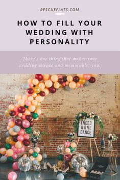how to fill your wedding with personality – Rescue Flats