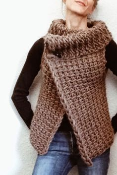 Tunisian Crochet Vest: very basic instructions and link to how to do the stitch