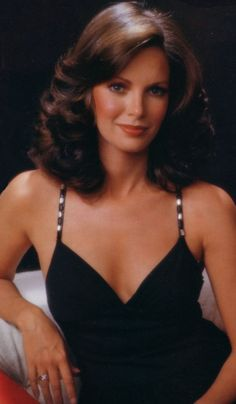 Jaclyn Smith - wow, I think this is my current haircut and this photos is from, like, 25 years ago?  Awkward.