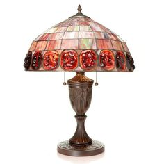 Warehouse of Tiffany BB61+PS136A Scarlet Turtleback Table Lamp - BB61+PS136A