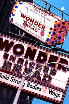 Former Wonder Bread Bakery, Grand River Ave., Detroit, MI, now the Motor City Casino Detroit Rock City, Detroit Area, Metro Detroit, State Of Michigan, Detroit Michigan, Lake Michigan, Detroit History, Vintage Neon Signs, Old Signs