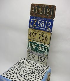 License plates on the wall