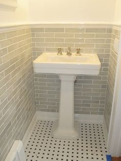 Powder room sink - traditional - bathroom - new york - Brinkman Architecture