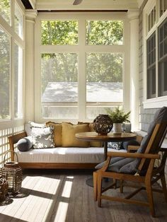 Screened Porch With Daybed By Hickman Design Associates.