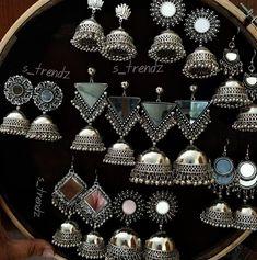 KidsTujhe chaha Rabb se bhi zyada Phir bhi na tujhe paa sake Rahe tere dil mein magar Teri dhadkan tak na jaa sake Judke bhi tooti rahi Ishqe di dor ve Kisko sunaaye jaa ke Toote dil ka shor ve Indian Jewelry Earrings, Fancy Jewellery, Silver Jewellery Indian, India Jewelry, Jade Jewelry, Stylish Jewelry, Metal Jewelry, Fashion Earrings, Bridal Jewelry
