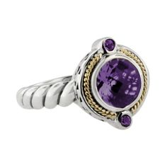 Effy Jewelry Effy 925 Calypso Amethyst Ring, 1.44 TCW ($550) ❤ liked on Polyvore featuring jewelry, rings, amethyst, amethyst jewellery, engagement rings, pandora jewelry, womens jewellery and effy jewelry