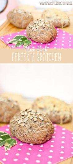 """Die perfekten Low Carb Brötchen: eine ähnliche Konsistenz wie """"echte"""" Brötchen #lowcarb #abnehmen #glutenfrei www.lowcarbkoestlichkeiten.de"""