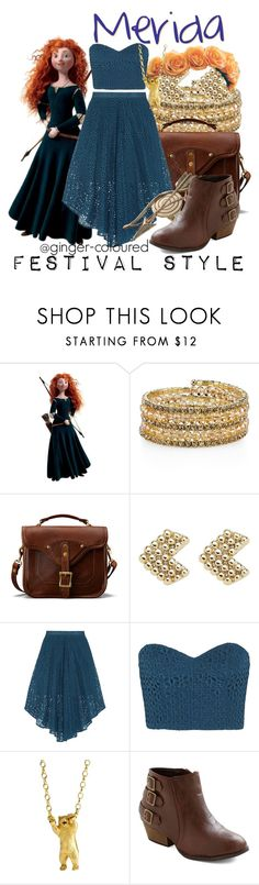 """Merida from Pixar's Brave - Festival Style"" by ginger-coloured ❤ liked on Polyvore featuring Merida, 1928, J.W. Hulme Co., Witchery, TIBI and momocreatura"