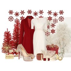 """Red Christmas"" by laaudra-rasco on Polyvore"