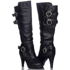 Womens Apple Bottoms VIKKI High Heel Boots Black - Was $70.00 - SAVE $35.00. BUY Now - ONLY $34.98.