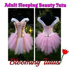 Adult Sleeping Beauty inspired tutu dress Www.facebook.com/bloomingtutusuk