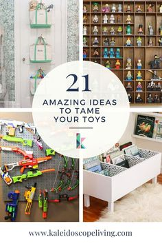 One of the toughest things to keep tidy in a house is the playroom. These ideas for DIY toy organization will help you tame the toy problem and make it simple for the kids to keep it that way! Find all the best ideas here at Kaleidoscope Living Toy Room Organization, Playroom Organization, Playroom Ideas, Toy Hammock, Lego Kits, Diy Kids Furniture, Toy Rooms, Inspiration For Kids, Cool Diy Projects