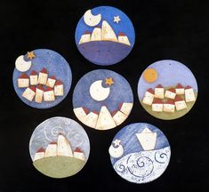 Kikilapoule Ceramiche Artistiche Ceramic Art, Terracotta, Painted Rocks, Polymer Clay, Porcelain, Projects, Christmas, Painting, Feltro