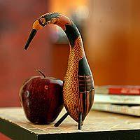 Mate gourd sculptures, 'Aviary Inspiration' (pair)
