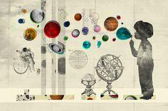 Estos collages del diseñador gráfico e ilustrador polaco Kacper Kiec me gustan especialmente, los encuentro muy conseguidos.
