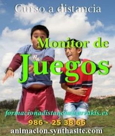 Cursos Ludotecas y Juegos | Curso a distancia toda España: MONITOR/A DE JUEGOS