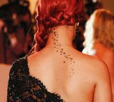 back of neck tattoos women - Google Search