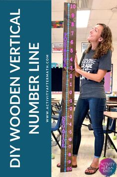Number Line Activities, Math Activities, Wooden Hand, Wooden Diy, Math Teacher, Teaching Math, Middle School, Back To School, Hand Sanitizer Holder