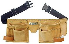 Rockytale Tool Belt High Quality Suede Leather: Amazon.co.uk: DIY & Tools
