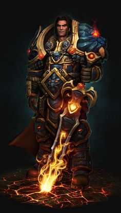 World of Warcraft- King Varian Wrynn (I need his armor in girl form!!) (and his lovely hair)