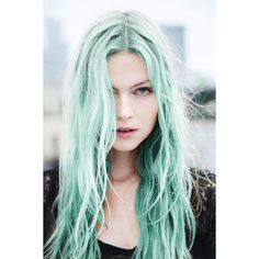 Rainbow Pastel Hair Is A New Trend Among Women ❤ liked on Polyvore featuring hair, backgrounds and faces