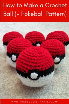 Pokémon and pokeballs are all over the internet, and I wanted them for myself. Find out how to make a simple crochet ball and pokeballs in one tutorial!