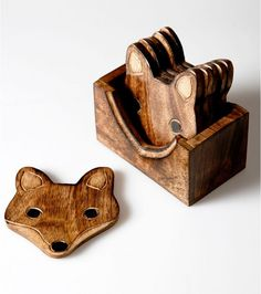 Dessous de verres en bois renard